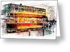 Binns Tram 8 Greeting Card