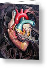 Bio Heart Greeting Card by Matt Truiano