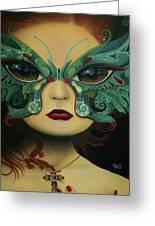 Biomorphic Bifocals Greeting Card