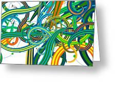 Bipolar Mania Rollercoaster Abstract Greeting Card