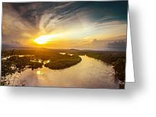 Bira River At Sunset. Greeting Card