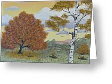 Birch And Oak Frienship Greeting Card