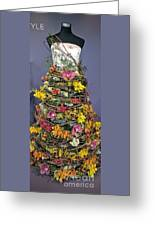 Birch And Orchid Twig Dress Exhibit Piece Greeting Card