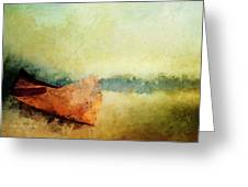 Birch Bark Canoe At Rest Greeting Card