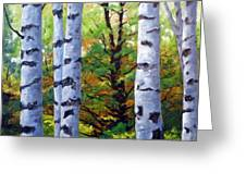 Birch Buddies Greeting Card
