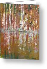 Birch In Abstract Greeting Card