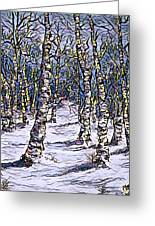 Birch Tree Mosaic 2 Greeting Card