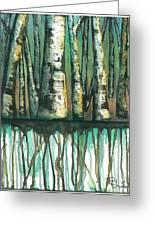 Birch Trees #5 Greeting Card