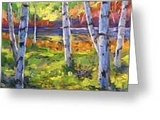 Birches 01 Greeting Card