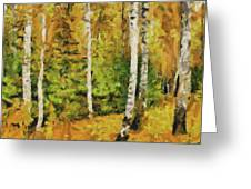 Birches And Spruces Greeting Card