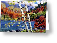 Birches By The Lake Greeting Card