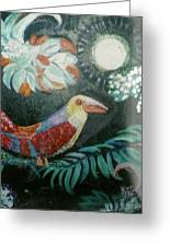 Bird And Moonshine Greeting Card