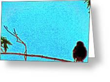 Bird As Art Greeting Card