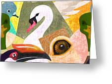 Bird Composition Greeting Card