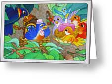 Bird-day Greeting Card
