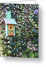 Bird Feeder In Ivy Greeting Card