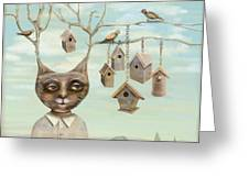 Bird Houses Greeting Card
