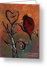 Bird I Wr Greeting Card