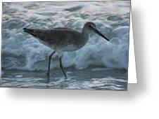 Bird In Waves Greeting Card