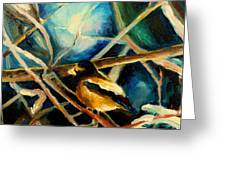 Bird In Winter Greeting Card