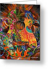 Bird Of Fire Guitar Greeting Card