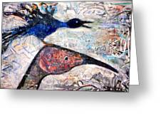 Bird On Bird Greeting Card