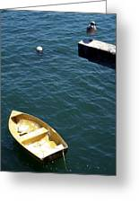Bird Over Boat. Greeting Card