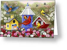 Bird Painting - Primary Colors Greeting Card