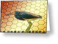 Bird Ponders The Disappearing Bees And Several Biological Markers Left In The Hive Greeting Card