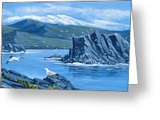 Bird Rock Puget Sound Greeting Card by Bob Patterson