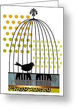 Birdcage Solo Greeting Card