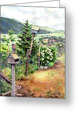 Birdhouse Alley Greeting Card