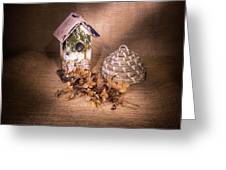 Birdhouse And Behive 1 Greeting Card
