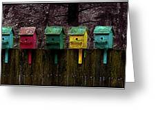 Birdhouse Beachfront Greeting Card