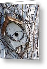 Birdhouse Brambles Greeting Card