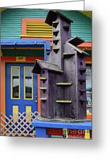 Birdhouses For Colorful Birds 2 Greeting Card