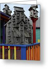 Birdhouses For Colorful Birds 4 Greeting Card