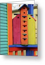 Birdhouses For Colorful Birds 5 Greeting Card