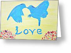 Birdie Love Greeting Card