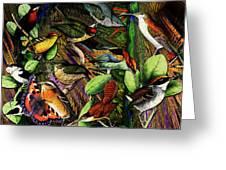 Birdland Greeting Card by Joseph Mosley