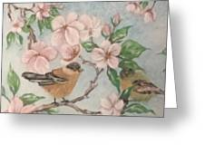 Birds And Blossoms Greeting Card