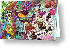 Birds And Butterflies Greeting Card