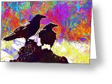 Birds Crow Black  Greeting Card