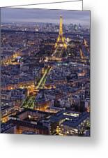 Bird's Eye On Paris 1 Greeting Card