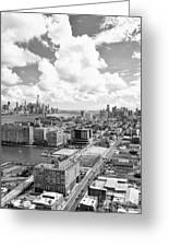 Bird's Eye View Hoboken Nj Greeting Card
