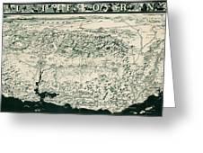 Birds-eye View Of California Greeting Card