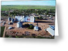 Birds Eye View Of Chappell Greeting Card by Rural Housewife