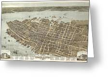 Birds Eye View Of Charleston Greeting Card