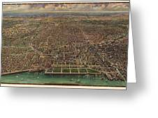 Birds Eye View Of Chicago 1916 Greeting Card