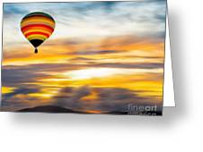 Birds Eye View Of Sunset Greeting Card